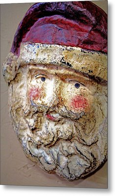 Santa Metal Print by Lynn Sprowl
