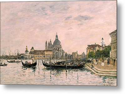 Santa Maria Della Salute And The Dogana Metal Print by Eugene Louis Boudin