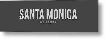 Santa Monica, California Metal Print by Design Ideas