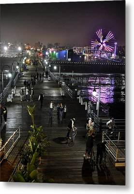 Metal Print featuring the photograph Santa Monica by Gandz Photography