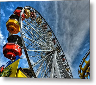 Santa Monica Pier 006 Metal Print by Lance Vaughn