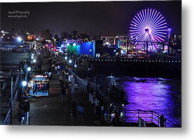 Metal Print featuring the digital art Santa Monica Pier 5 by Gandz Photography