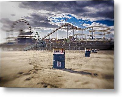 End Times At Santa Monica Pier Metal Print