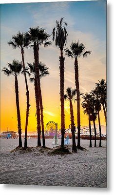 Santa Monica Palms Metal Print