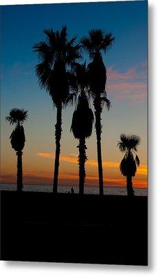 Santa Monica Sunset Metal Print
