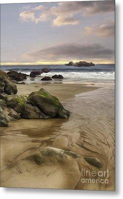 Santa Monica Sunset Metal Print by Sharon Foster