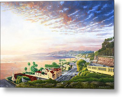 Santa Monica View North Metal Print by Douglas Castleman