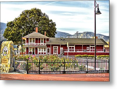 Santa Paula Train Station Metal Print