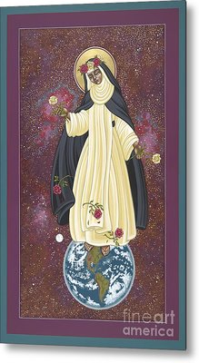 Metal Print featuring the painting Santa Rosa Patroness Of The Americas 166 by William Hart McNichols