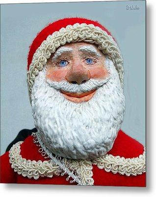 Santa's Big Day Metal Print