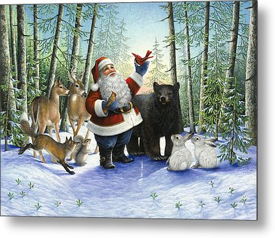 Santa's Christmas Morning Metal Print by Lynn Bywaters