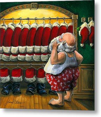 Santa's Closet Metal Print