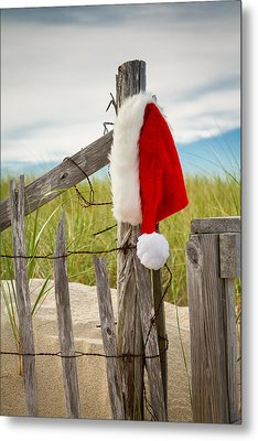 Santa's Downtime Metal Print