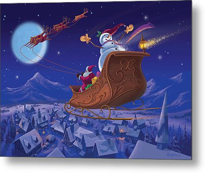 Santa's Helper Metal Print by Michael Humphries