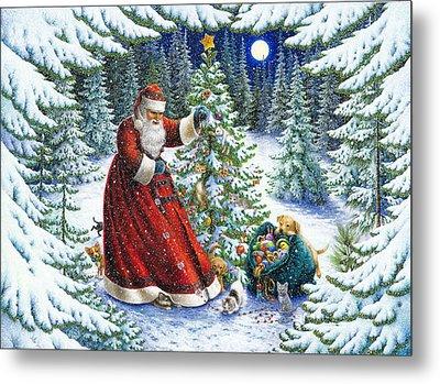 Santa's Little Helpers Metal Print by Lynn Bywaters
