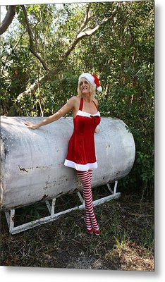 Santa's Naughty Lil' Helper 1345 Metal Print by Lucky Cole