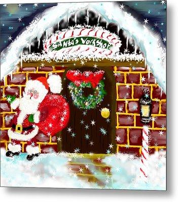Santa's Workshop Metal Print by Lori  Lovetere