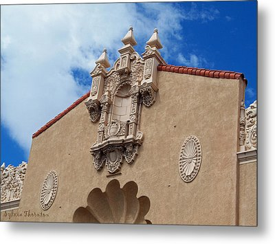 Metal Print featuring the photograph Sante Fe Theatre by Sylvia Thornton