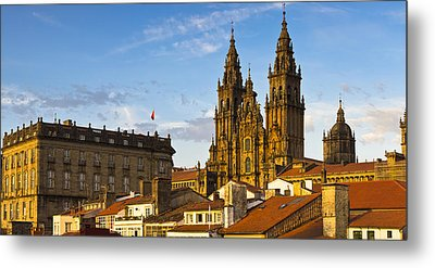Metal Print featuring the photograph Santiago De Compostela Cathedral Galicia Spain by Pablo Avanzini
