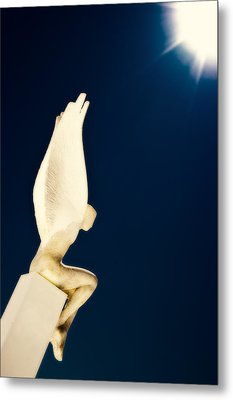 Metal Print featuring the photograph Santorini Guardian by Meirion Matthias