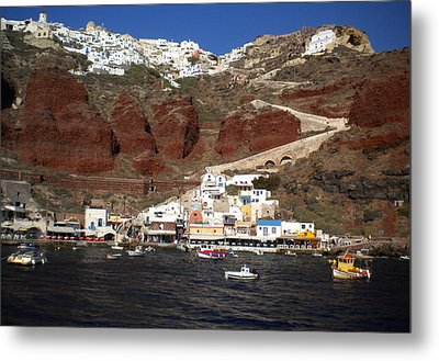 Santorini  Island  View To Oia Greece Metal Print