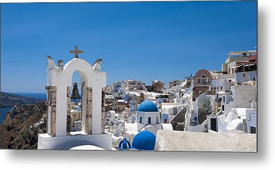 Metal Print featuring the photograph Santorini Mid-summer Day by Don McGillis