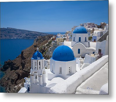 Metal Print featuring the photograph Santorini On A Summer Day by Don McGillis