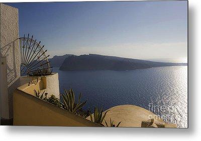 Santorini View 24x14 Metal Print