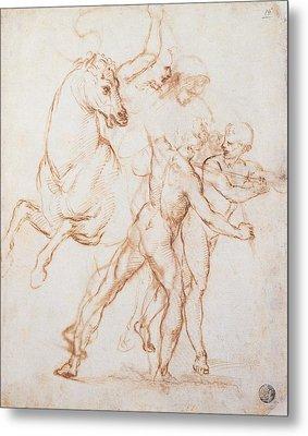Sanzio Raffaello, A Warrior Riding Metal Print by Everett