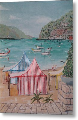 Metal Print featuring the painting Sao Martinho Do Porto by Hilda and Jose Garrancho