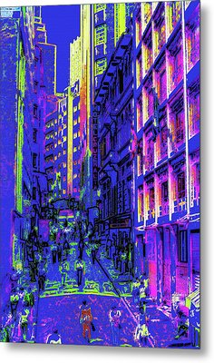 Sao Paulo Downtown At Night Metal Print by Steve Ohlsen