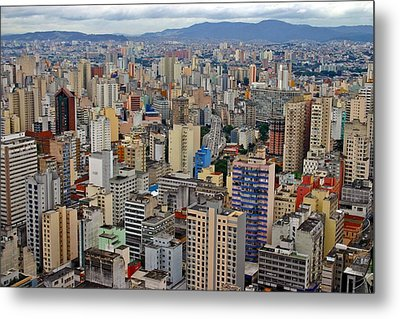 Metal Print featuring the photograph Sao Paulo by Henry Kowalski