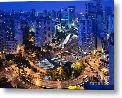 Sao Paulo Skyline - Downtown Metal Print