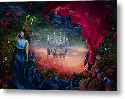 Sapphire Metal Print by Cassiopeia Art