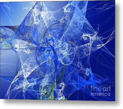 Sapphire In Blue Lace Metal Print by Andee Design