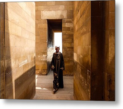 Saqqara Temple Metal Print by Anthony Baatz