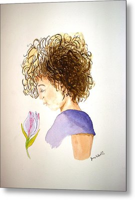 Metal Print featuring the painting Sarah by June Holwell