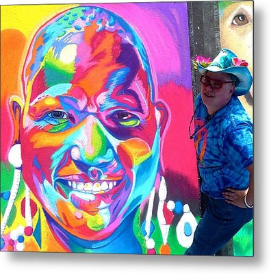 Sarasota's Colorful Face Metal Print by Mythica Von Griffyn