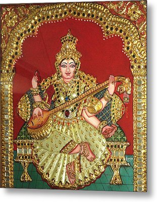 Saraswathi  Metal Print by Jayashree