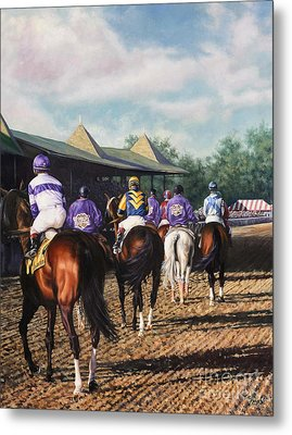 Saratoga Post Parade Metal Print by Thomas Allen Pauly