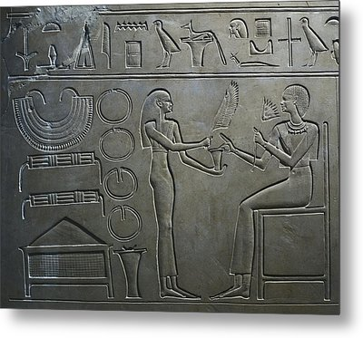 Sarcophagus Of Queen Kawit. 2040 Bc Metal Print by Everett