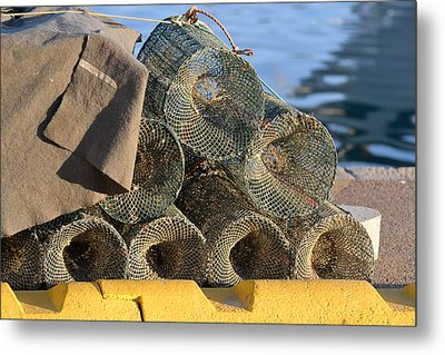 Sardinian Crab Traps Metal Print by Bill Mock