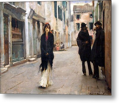 Sargent's Street In Venice Metal Print by Cora Wandel