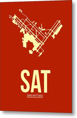 Sat San Antonio Airport Poster 2 Metal Print by Naxart Studio