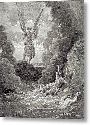 Satan And Beelzebub Metal Print by Gustave Dore