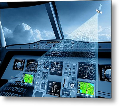 Satellite Air Traffic Control System Metal Print by European Space Agency