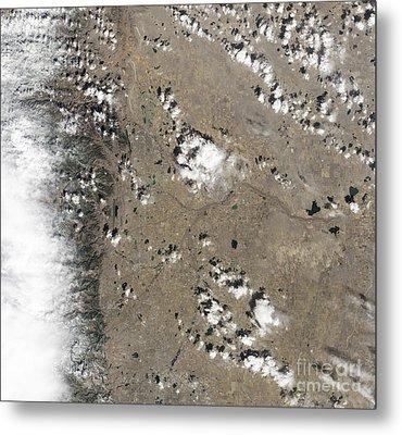 Satellite View Of Fort Collins Metal Print