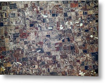 Satellite View Of Redfield, Spink Metal Print