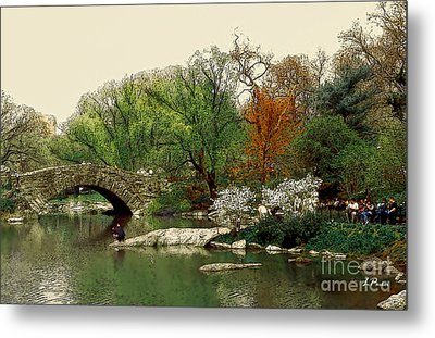 Saturday In Central Park Metal Print by Linda  Parker