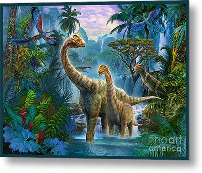 Sauropods II Metal Print